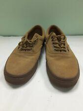 VANS Leather Canvas brown Skate Shoes Sneakers 721356 Mens 9.5