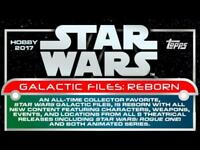 2017 Topps Star Wars Galactic Files Reborn Insert Trading Cards Pick From List