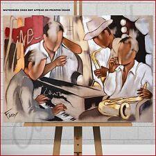 Pierre Farel Canvas Print Picture Jazz Lounge Music Band Piano Saxophone Sax