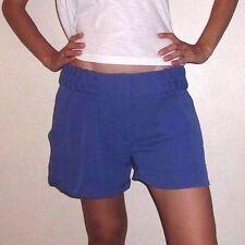 EUC Womens size 8 Medium BCBG Generation Blue Indigo Polyester Lined Shorts