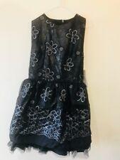 JONES & JONES OLIVIA EVENING DRESS WOMANS SIZE 14 BLACK & SILVER NEW WITH TAGS