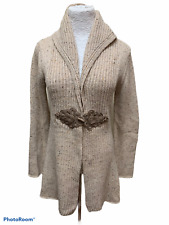 Soft Surroundings Beige XS S Duster Cardigan Sweater Cashmere Blend