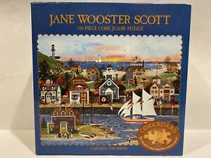 Jane Wooster Scott CATCHING THE BREEZE Cork Puzzle 500 Piece Jigsaw COMPLETE