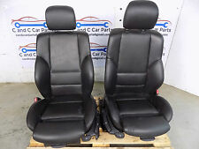BMW E46 Saloon Tourer M Sport Black Leather Manual Front Seats  Pair