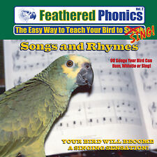 Feathered Phonics #2 CD: Teach Your Bird Songs and Rhymes - FREE SHIPPING