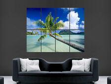 PALMA Spiaggia bella Paradiso Tropicale IMMAGINE GRANDE Muro Art Poster Gigante