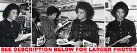 MICHAEL JACKSON 1980 inSTORE SIGNING 3xRARE8x10 PHOTOS