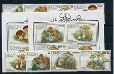 Ghana 1449/56 Block 164/65 postfrisch / Pilze .............................1/688