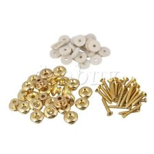 100x Gold Mushrooms Head Guitar Strap Buttons for Guitar Replacement