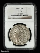1889-CC Morgan Silver Dollar - NGC VF20