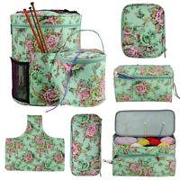 KQ_ Portable Knitting Yarn Storage Tote Bag Crocheting Needle Hooks Organizer Po