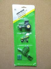 ERTL 1:64 1/64 scale John Deere 3 Piece Tractor and Implement Set Die Cast PG800