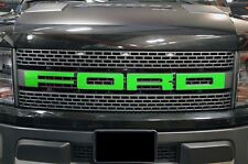Ford F150 SVT Raptor 2010-2014 Custom Vinyl Decal Grille Letter Overlay - Green