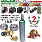 BOMBOLA RICARICABILE 7 LT. 200 BAR MISCELA ARGON CO2 E RIDUTTORE DI PRESSIONE EE