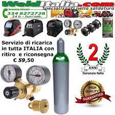 BOMBOLA RICARICABILE 14 LT. 200 BAR MISCELA ARGON CO2 RIDUTTORE PRESSIONE EE CAR