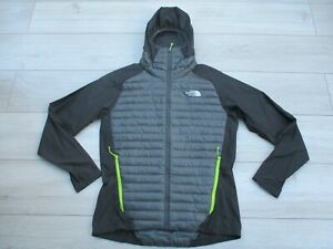 The North Face Mens Verto Prima Micro Hoodie Jacket 800 Down Hybrid M Black Grey