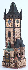 Ceramic house tea light holder 'Old Town Clock in Prague', 45 cm, © Midene