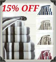 Bath Sheet Bath OR Hand Large Luxury Stripe New Egyptian Cotton Towel Set 600GSM