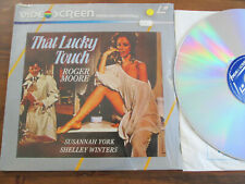 LASERDISC rare and early 80's disc That lucky woman Roger Moore VIDEOSCREENserie