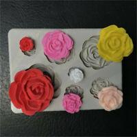 Sugarcraft mold cake decor fondant chocolate silicone mould 3d rose flower