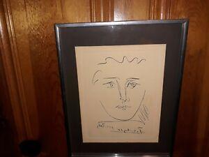 """Pour Roby"" Pablo Picasso Etching, Mid Century Collectors Guild/COA"
