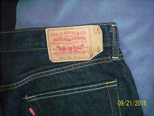 LEVIS 501 XX MENS STRAIGHT LEG  BUTTON FLY DENIM BLACK  JEANS SIZE 36X32