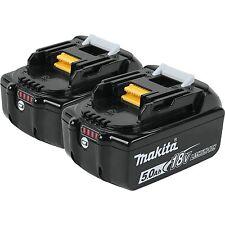 2-Genuine Makita BL1850B 18V LXT Lithium-Ion Batteries 5.0Ah BL1850B-2