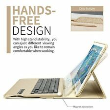 iPad Pro 10.5 Keyboard Case 360 Degree Rotating Stand Leather Smart Cover Gold