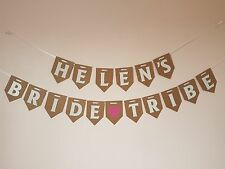 Personalised BRIDE TRIBE Bunting Bride To Be Weekend Night  Bridal Shower Banner