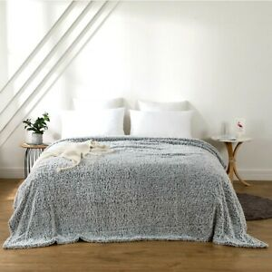 New Mainstays KING Extra Plush Lightweight Sherpa Blanket