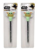 Star Wars The Mandalorian The Child Grogu Topper Pen Baby Yoda 2-Pack Set