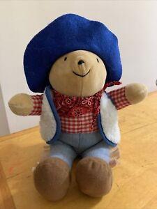 PADDINGTON BEAR, plush Paddington, Cowboy Paddington bear, Eden plush bear C3