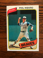 1980 Topps #245 Phil Niekro Baseball Card HOF Raw Atlanta Braves
