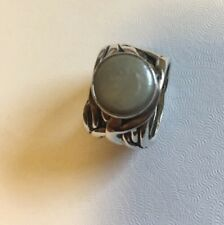 "RARE SIZE 7 1/2 Silpada Coin Pearl ""Mermaid"" Ring R1542 retired Sterling Silver"