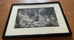 Vintage  hindu black and white print shri shankar acharya