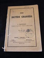 Partition 500 Dictées Graduées L Grandjany