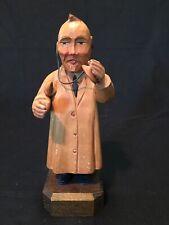 Vintage Anri Hand Carved Wood Figurine Doctor General Practitioner 7� New Old St