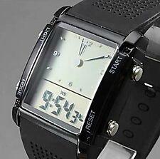 7 Colors Backlight Digital Fashion Quartz Electronic New Military LED Watch
