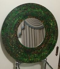 Bohemian Styled Mosaic Luminous Oval Mirror (Glass Tiled Multi Coloured)
