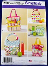 Simplicity Lunch Bag & Art Caddy Sewing Pattern Craft Tote Snack Handbag 1385