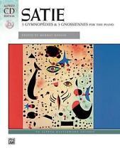 Erik Satie, 3 Gymnopedies & Gnossiennes Piano, Sheet Music Book + CD, Alfred