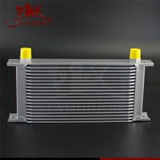 Universal 19 Row AN10 Engine Transmission 248mm 10-AN Oil Cooler Silver