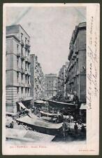 Campania. NAPOLI. Basso Porto. Cartolina d'epoca viaggiata.