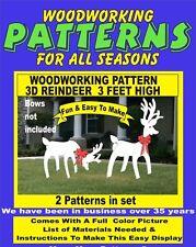 3D REINDEER 3 FEET HIGH CHRISTMAS WOODWORKING PATTERN yard art  patternsrus