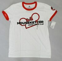 Disney Women's Mickey Mouse Club Mouseketeer Ringer T-Shirt AM1 White/Red Medium