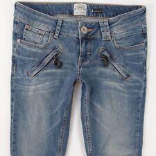 Ladies Womens River Island Skinny Stretch Blue Jeans W29 L32 UK Size 10