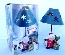 Christmas Santa tea light candle holder lamp - Santa Claus Reindeer New In Box