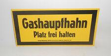 GDR Plastic Warning Sign Warning Sign Gashaupthahn Square Free Hold Loft Decor