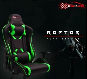 New Everracer PU Leather Reclining Office Desk & Gaming Executive Chair - Green