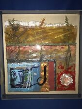 Listed Artist JOHN JOSEPH FORMICOLA Mixed Media Collage in Acrylic Frame